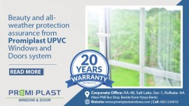 Beauty and all-weather protection assurance from Promiplast UPVC Windows and Doors system.