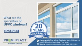 What are the specialties of UPVC windows?